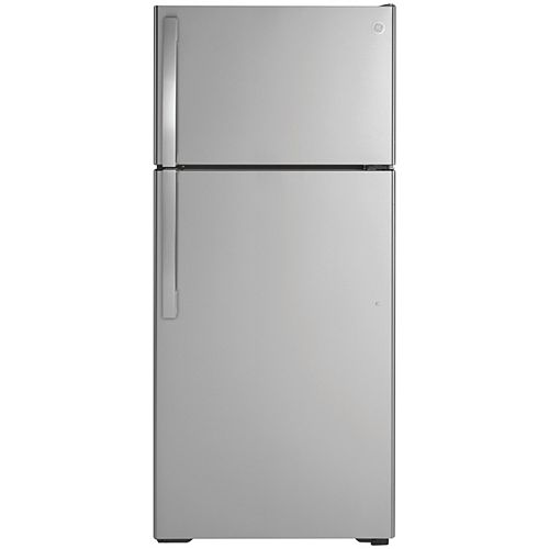 28-inch W 16.6 Cu. ft. Top-Mount No Frost Refrigerator in Stainless Steel