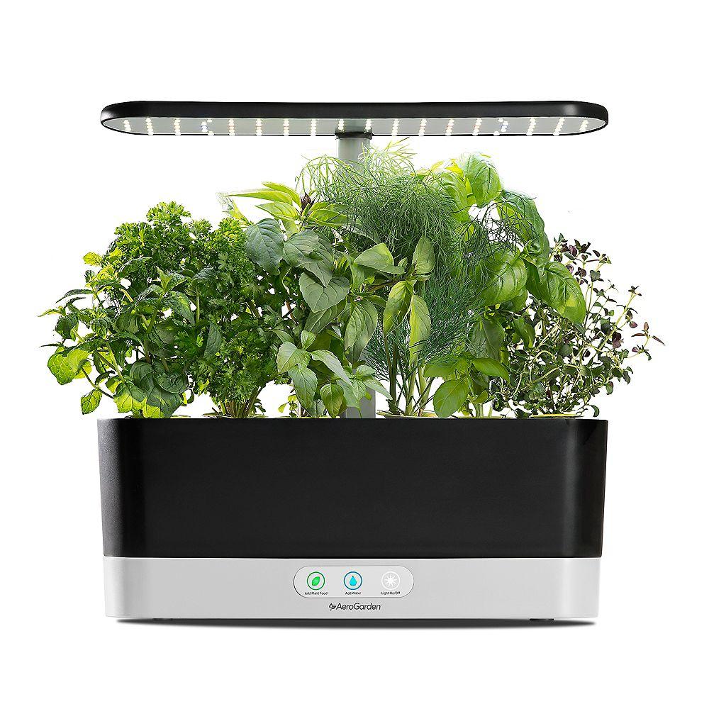 AeroGarden Goodfull Harvest Slim Herb Garden in Black