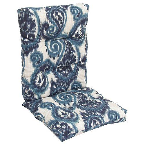 Highback blue floral