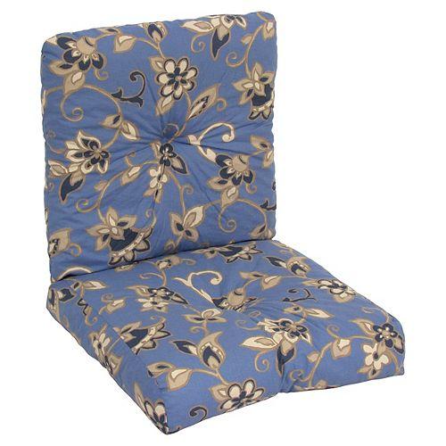 Deep seating blue floral