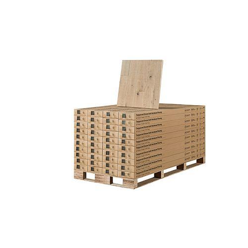 Revêt. sol bois franc massif, chêne français Point Reyes, 0,75 po x 5 po x long. var., 904,16 pi2/palette
