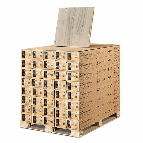 Maple Manhattan 3/8-inch Thick x 6-1/2-inch Wide x Varying Length Engineered Click Hardwood Flooring (945.6 sq. ft. /pallet)