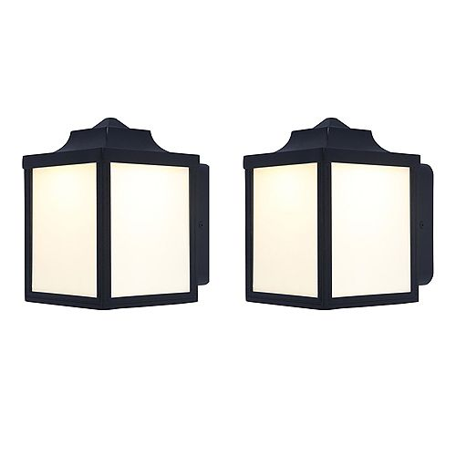 2-Pack Exterior LED Wall Lantern