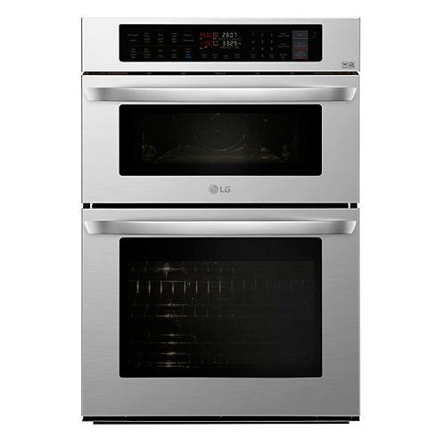 30-inch 6.4 cu. ft. Smart Combination Double Wall Oven & Microwave with Convection and EasyClean® in Stainless Steel