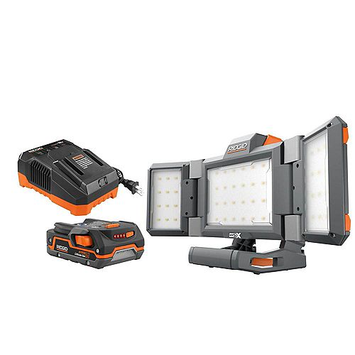 18V Cordless Panel Light Kit with 1.5 Ah Battery and Charger