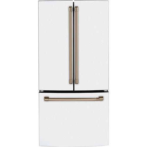 Café 18.6 cu. ft. French Door Fingerprint Resistant Refrigerator in Matte White - ENERGY STAR