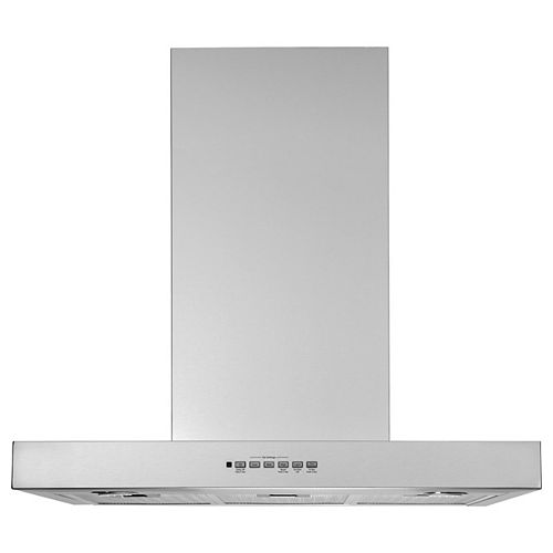 30-inch W Wall Mount Range Hood with LED Light in Stainless Steel