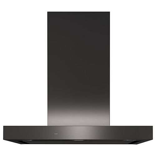 30-inch W Smart Wall Mount Range Hood with Fingerprint Resistant in Black Stainless Steel