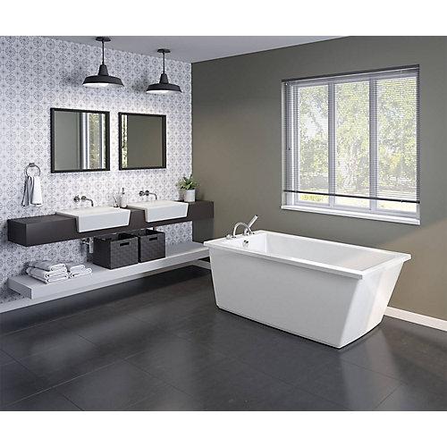 Elinor 60 inch x 32 inch Freestanding Bathtub with End Drain in White