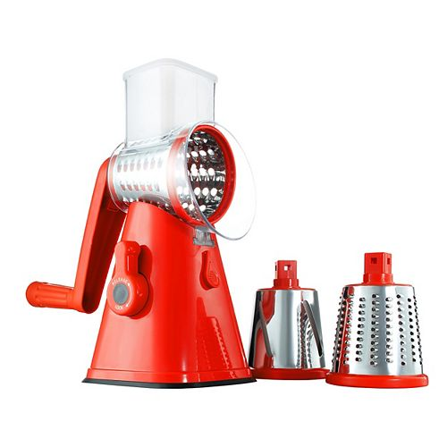 As Seen On Tv NutriSlicer 3 in 1 Spinning/Rotating Mandoline and Countertop Food Slicer and Grater
