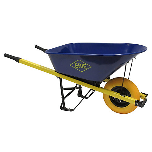 6 cu. ft. Steel Landscaper Wheelbarrow with Flat Free Tire