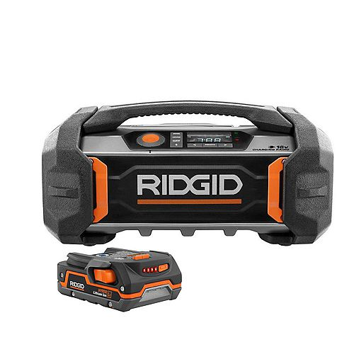 18V Cordless Jobsite Charging Radio with 1.5 Ah Battery