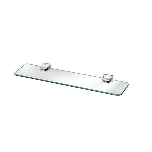 VITRIC GLASS SHELF, CHROME
