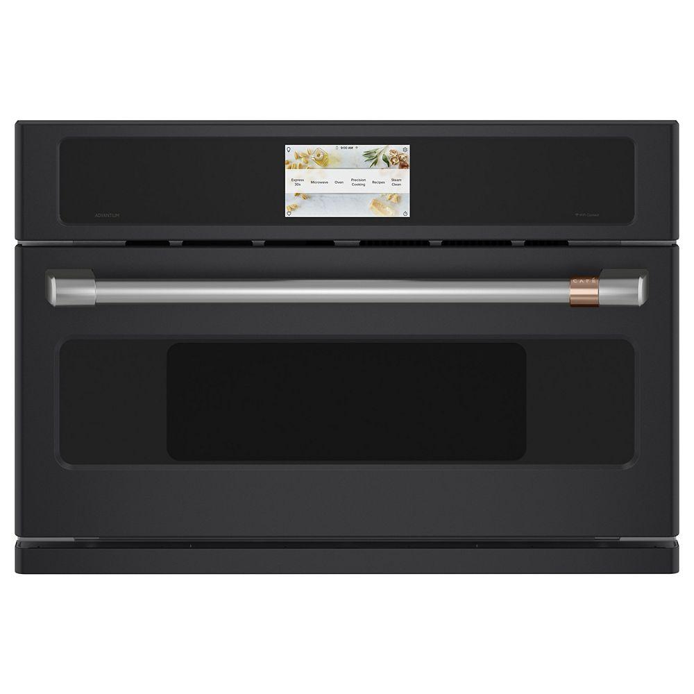 Café 30-inch W 1.7 cu. ft. Smart Electric Wall Oven with 240 Volt Advantium Technology in Matte Black
