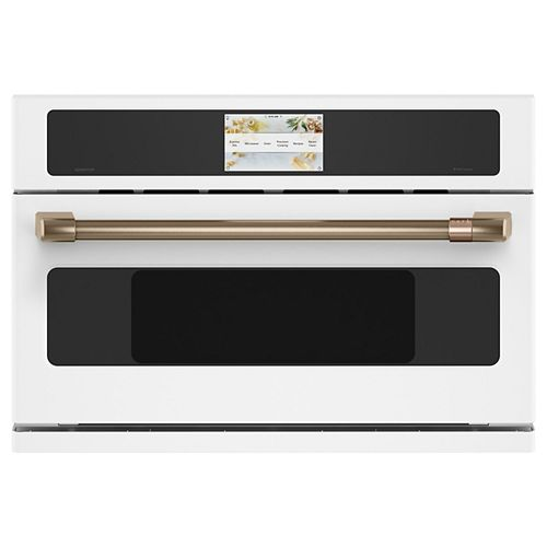 30-inch W 1.7 cu. ft. Smart Electric Wall Oven with 240 Volt Advantium Technology in Matte White