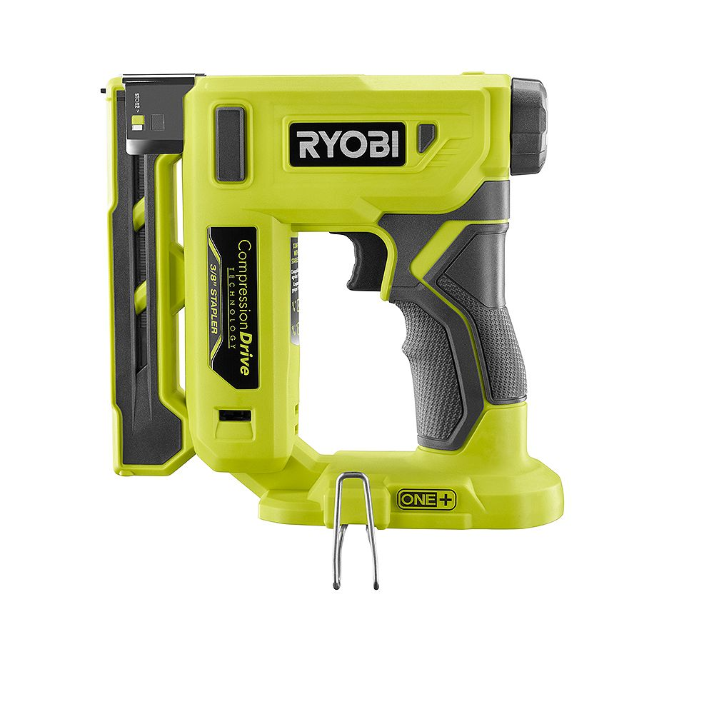 RYOBI 18V ONE+ Cordless Compression Drive 3/8 -Inch Crown Stapler (Tool Only)