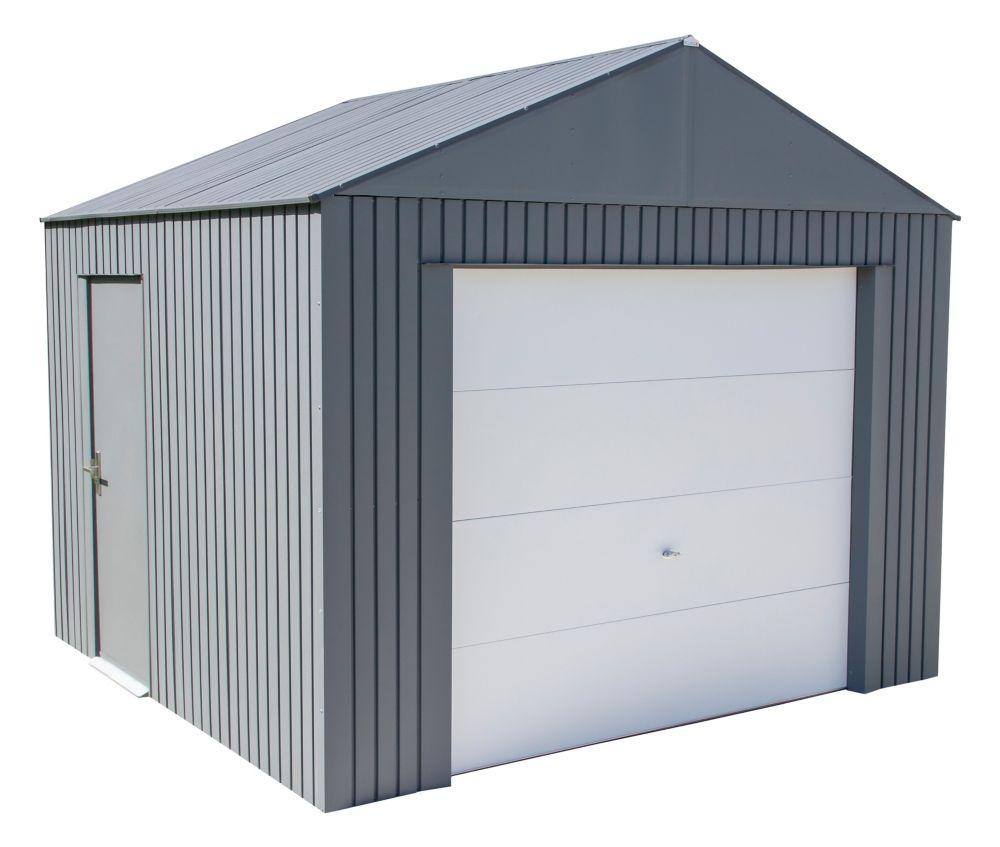 Abri De Jardin Composite garage everest 3,65 x 3,04 couleur charbon