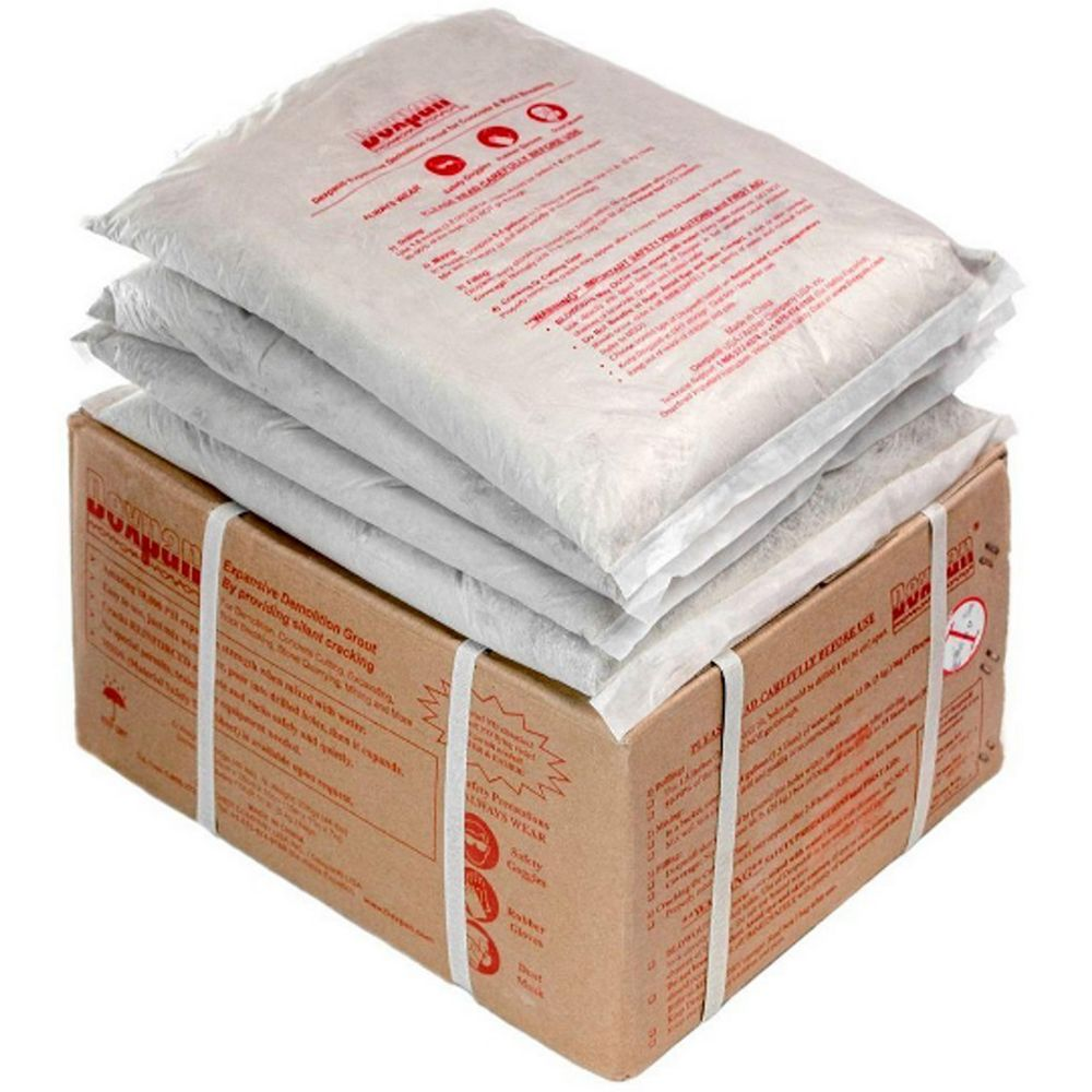 Dexpan Type 1 Expansive Demolition Grout for Breaking Concrete Rock Boulders 25 to 40°C (44 lb Box)