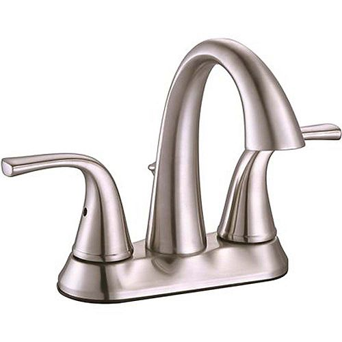 Creswell 4 inch Centerset 2-Handle Bathroom Faucet In Brushed Nickel