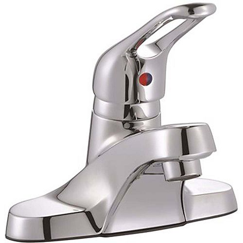 Bayview 4 inch Centerset Single-Handle Bathroom Faucet With Drain In Chrome