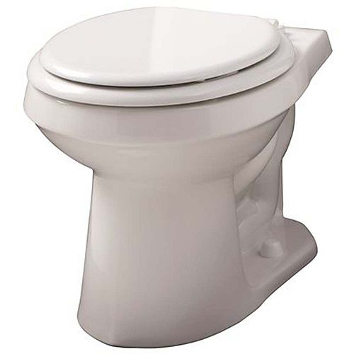 Viper 1.6 Gpf To 1.28 Gpf Watersense-High-Efficiency Siphon Jet Toilet Bowl With Round Front In White