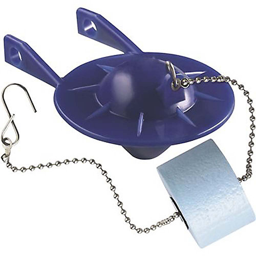 2 inch Blue Toilet Flapper With Float Used In Various 2-Piece Toilets