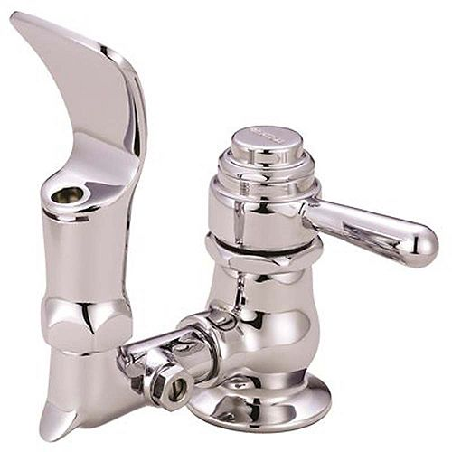 Central Brass Bubbler Head Self-Closing Drinking Faucet In Pvd Polished Chrome