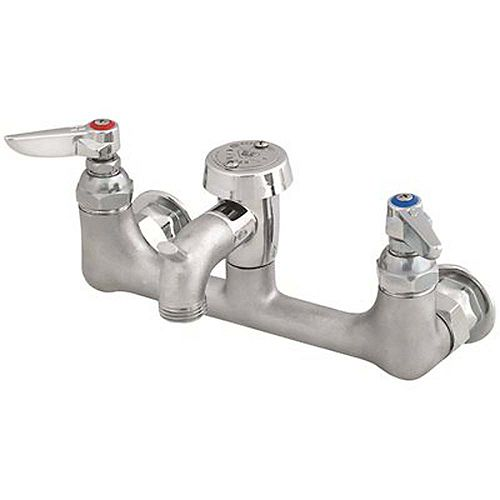 2-Handle Utility Faucet With Short Spout In Polished Chrome