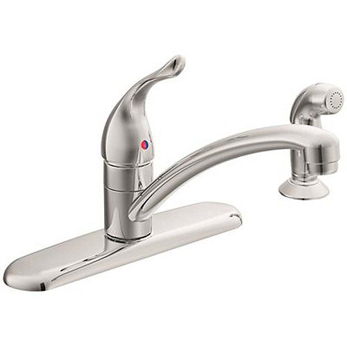 Moen Chateau Single-Handle Standard Kitchen Faucet With Side Sprayer In Chrome