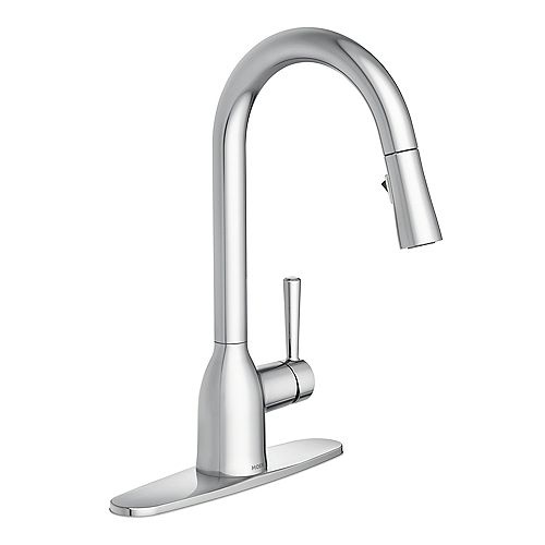 Adler Single-Handle Pull-Down Sprayer Kitchen Faucet with Reflex in Chrome