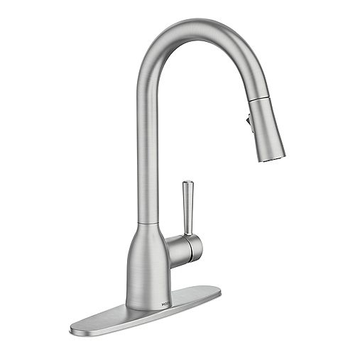Adler Single-Handle Pull-Down Sprayer Kitchen Faucet with Reflex in Spot Resist Stainless