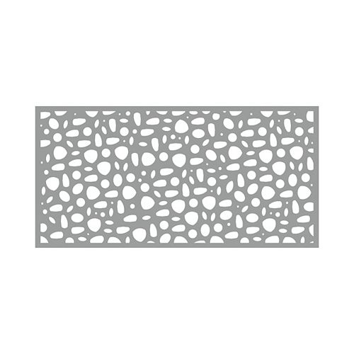 3' x 6' Decorative Screen Panel - River Rock - Grey