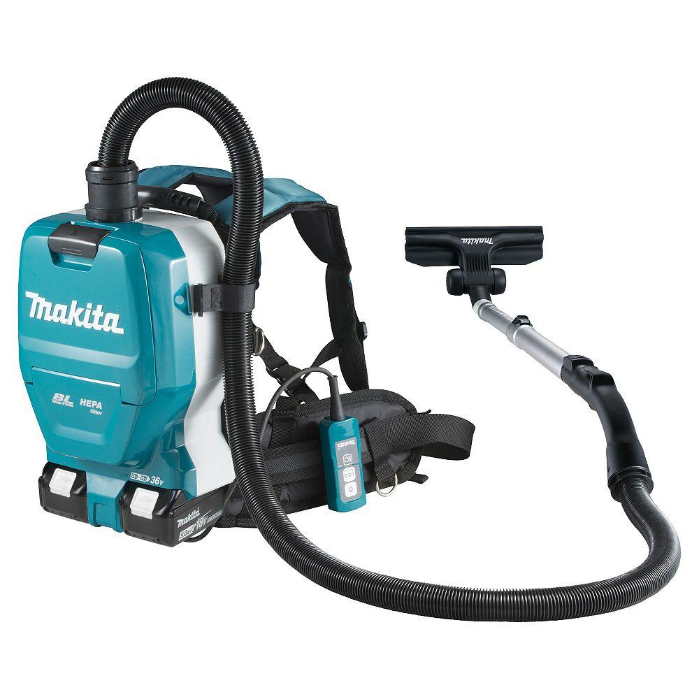 MAKITA 18Vx2 LXT Cordless Backpack Vacuum Cleaner (2.0 L)