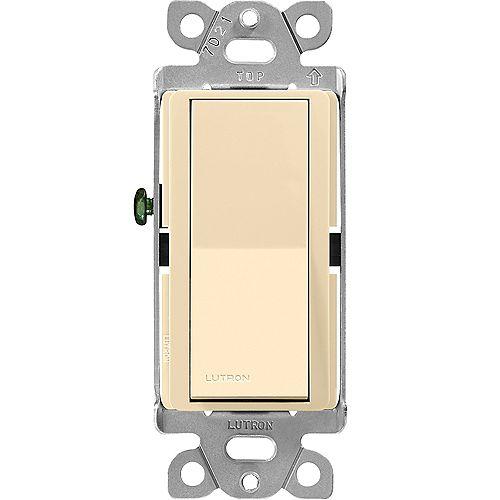 Claro 3-Way On/Off Switch, Ivory