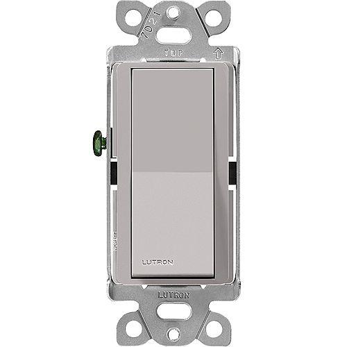 Lutron Interrupteur Claro unipolaire, 15A, Gray