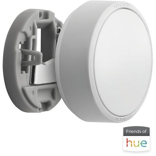 Lutron Aurora Smart Bulb Dimmer Switch for Philips Hue Smart Bulbs in White