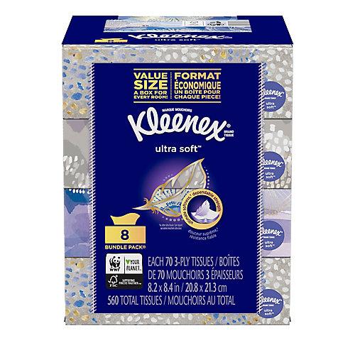 Kleenex Ultra Soft Facial Tissues 8 Bundle