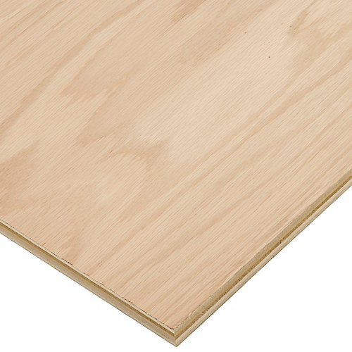 3/4in. X 2ft. X 4ft. Red Oak Plywood