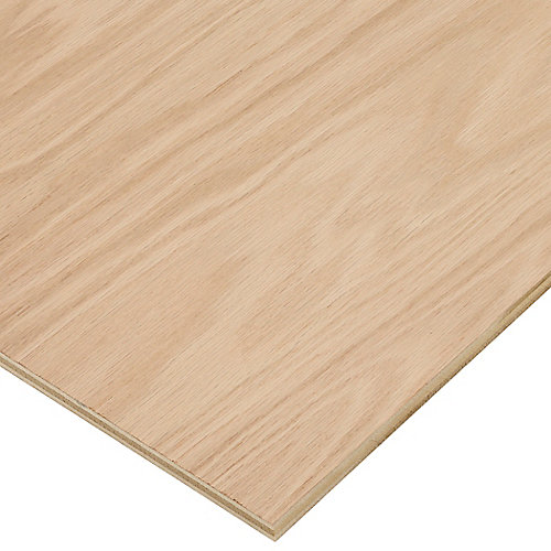 1/2in. X 2ft. X 4ft. Red Oak Plywood