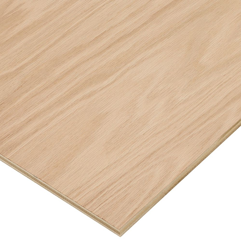 Columbia Forest Products 1/2in. X 2ft. X 4ft. Red Oak Plywood