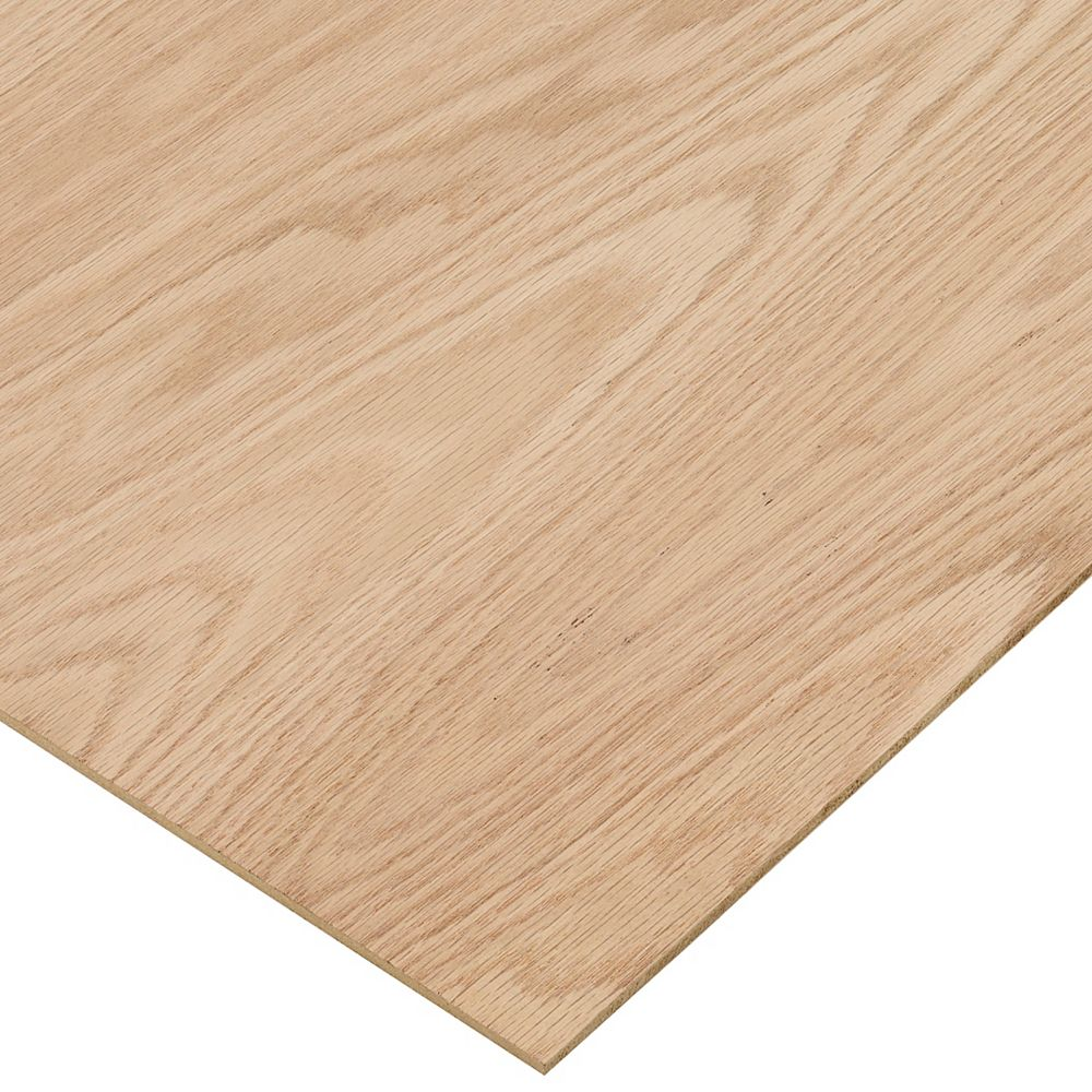 Columbia Forest Products 1/4in. X 2ft. X 4ft. Red Oak Plywood