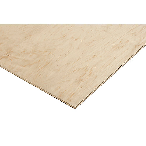 1/2in. X 2ft. X 4ft. Prefinished Maple Plywood