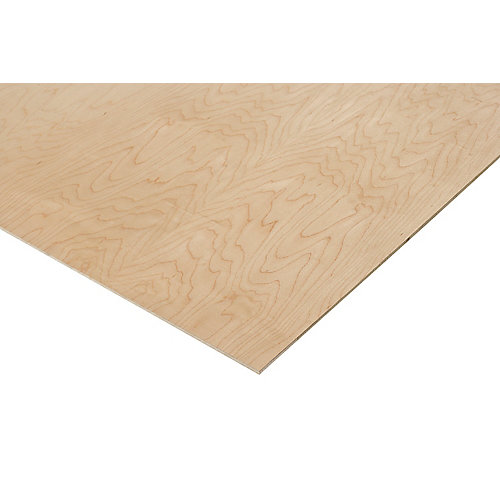 1/4in. X 2ft. X 4ft. Prefinished Maple Plywood