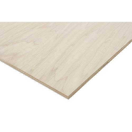 3/4in. X 2ft. X 4ft. Poplar Plywood