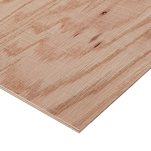 1/2in. X 2ft. X 4ft. Rough Sawn Red Oak Plywood