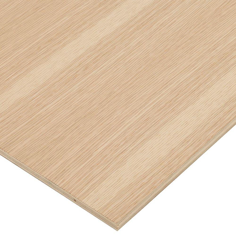 Columbia Forest Products Contreplaqué de chêne blanc 1/2 po x 2 pi x 4 pi
