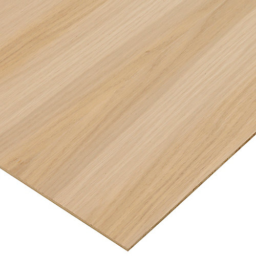 1/4in. X 2ft. X 4ft. White Oak Plywood
