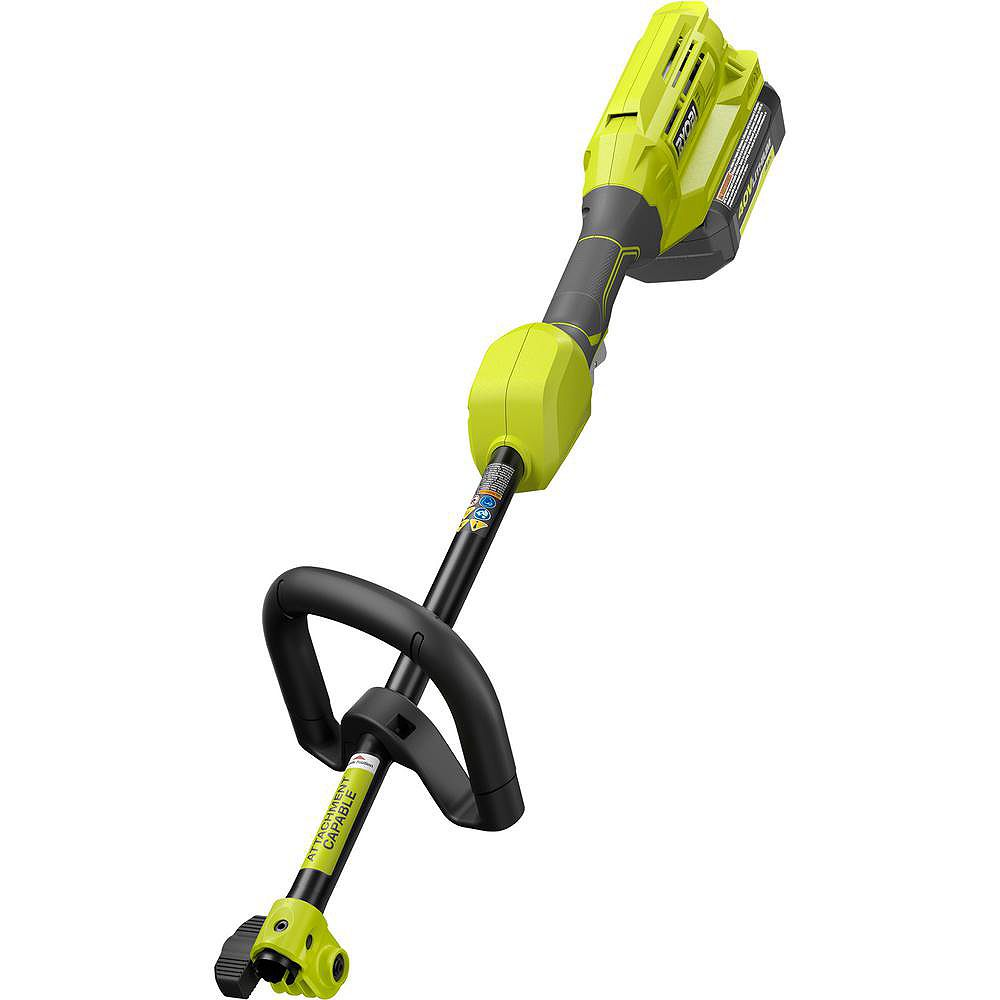 RYOBI Expand-It 40V Lithium-Ion Cordless Attachment Capable Trimmer Power Head with Battery and Charger