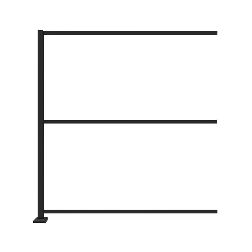 Barrette Frame Kit Extension for In-Line installation of 34 in. x 68 in. Panels - Matte black
