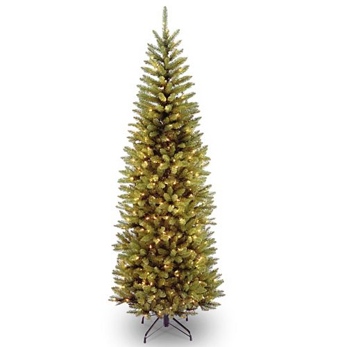 7 ft. Kingswood Pencil Slim Fir Tree with Clear Lights